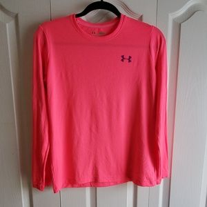 Girl's Under Armour Breast Cancer Long Sleeve L